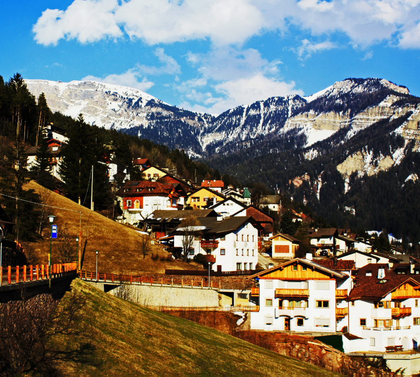 The village of Ortisei in Val Gardena in the Italian Dolomites on Mallory On Travel