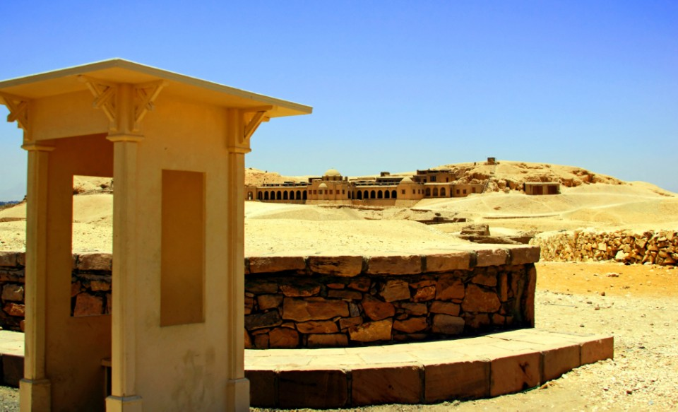 The gatehouse at the Temple of Hatshepsut, Luxor in Egypt Copyright © by Mallory On Travel 2011 adventure photography