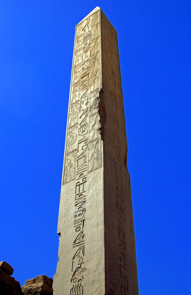 An Obelisk at the Temple of Karnak. Luxor in Egypt on Mallory on Travel adventure photography
