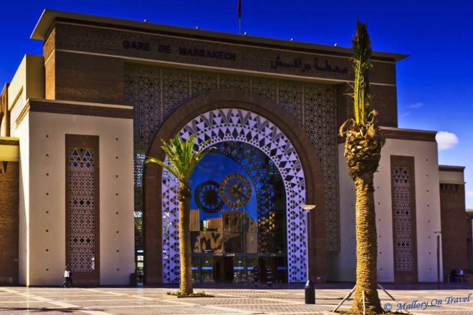 Grand central station at Marrakech, Morocco Copyright on Mallory on Travel, adventure, photography