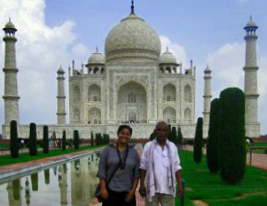 Tending the gardens of India's Taj Mahal on Mallory on Travel adventure, photography