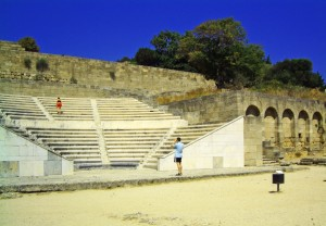 Amphitheatre at the Acropolis on the island of Rhodes, Greece on Mallory on Travel, adventure, photography