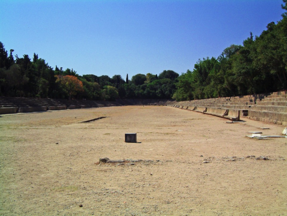 The arena at Rhodes on the Greek island on Mallory on Travel, adventure, photography
