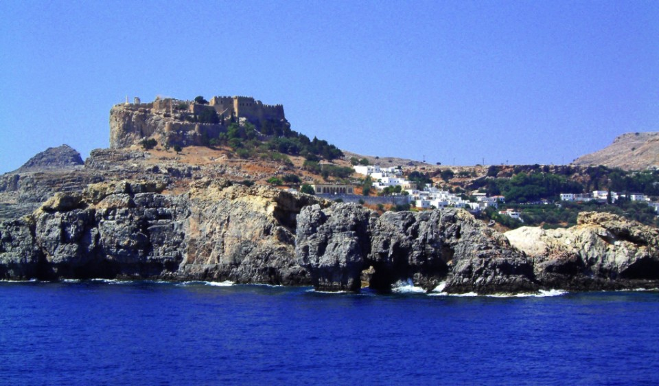 A view of Lindos near Rhodes in the greek Islands on Mallory on Travel, adventure, photography