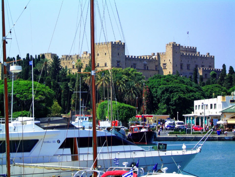 Palace of the Grand Masters at Rhodes city in Greece on Mallory on Travel, adventure, photography
