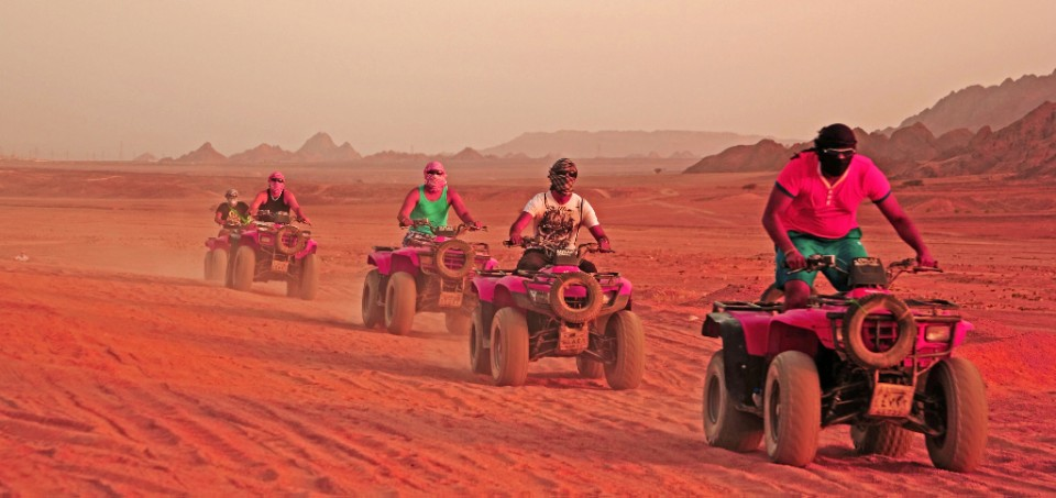 A quad bike adventure in the desert near Sharm el Sheik in Egypt on Mallory on Travel, adventure, photography