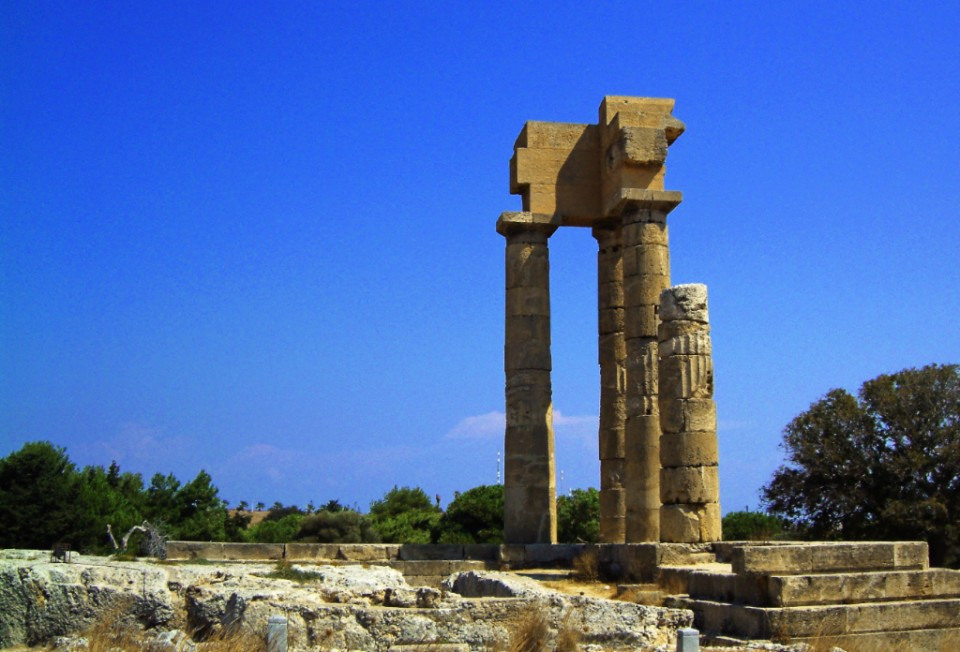 The Temple of Apollo near the Rhodes in Greece on Mallory on Travel, adventure, photography