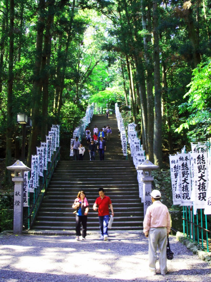 Stairs to a Japanese shrine on Mallory on Travel adventure photography