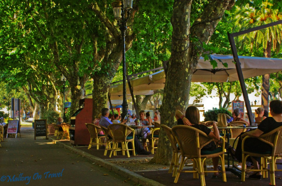 Corsican cafe culture the French way in Bastia on Mallory on Travel, adventure, photography