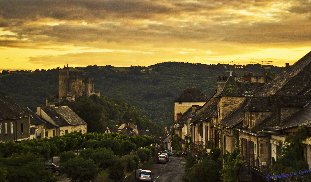 Najac a beautiful French village in the Aveyron  on Mallory on Travel adventure, photography
