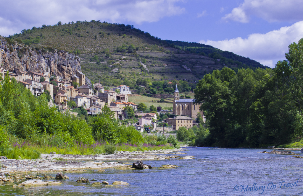 The troglodyte village of Peyre near Millau in the French Aveyron on Mallory on Travel adventure, photography