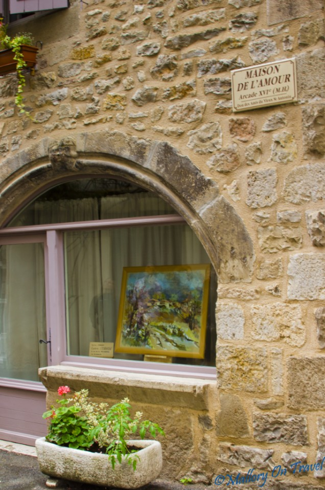 The house of love St Antonin Val Noble in the Aveyron Midi-Pyrenees, France on Mallory on Travel, adventure, photography