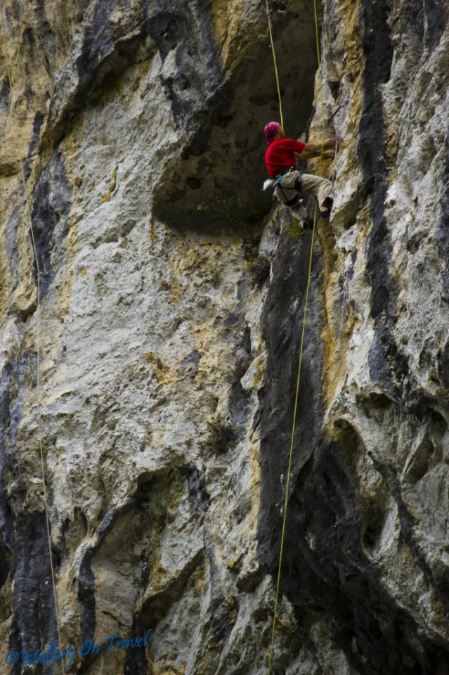 Multi-pitch climbing in the Aveyron Gorge, France on Mallory on Travel, adventure, photography