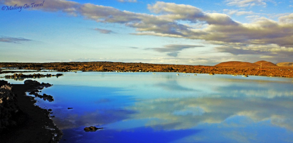 The 'blue' pool outside the Blue Lagoon in Iceland on Mallory on Travel, adventure, adventure travel, photography