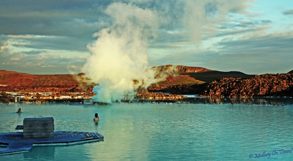 The frosty blue water of the Blue Lagoon in Iceland on Mallory on Travel, adventure, adventure travel, photography