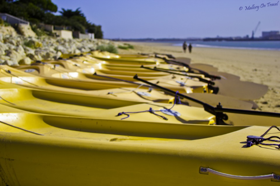 Boats on the beach at I'lè de Ré in Poitou-Charentes in France on Mallory on Travel, adventure, adventure travel, photography