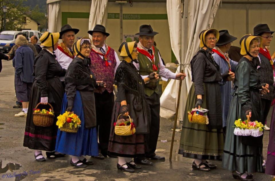 Spanish visitors to the Foire aux Côtelettes Festival in the village of Arrens-Marsous in the Val d'Azun in the French Haute- Pyrénées on Mallory on Travel, adventure, adventure travel, photography