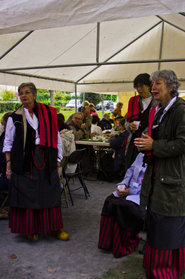 Female choir at the Foire aux Côtelettes Festival in the village of Arrens-Marsous in the Val d'Azun in the French Haute- Pyrénées on Mallory on Travel, adventure, adventure travel, photography