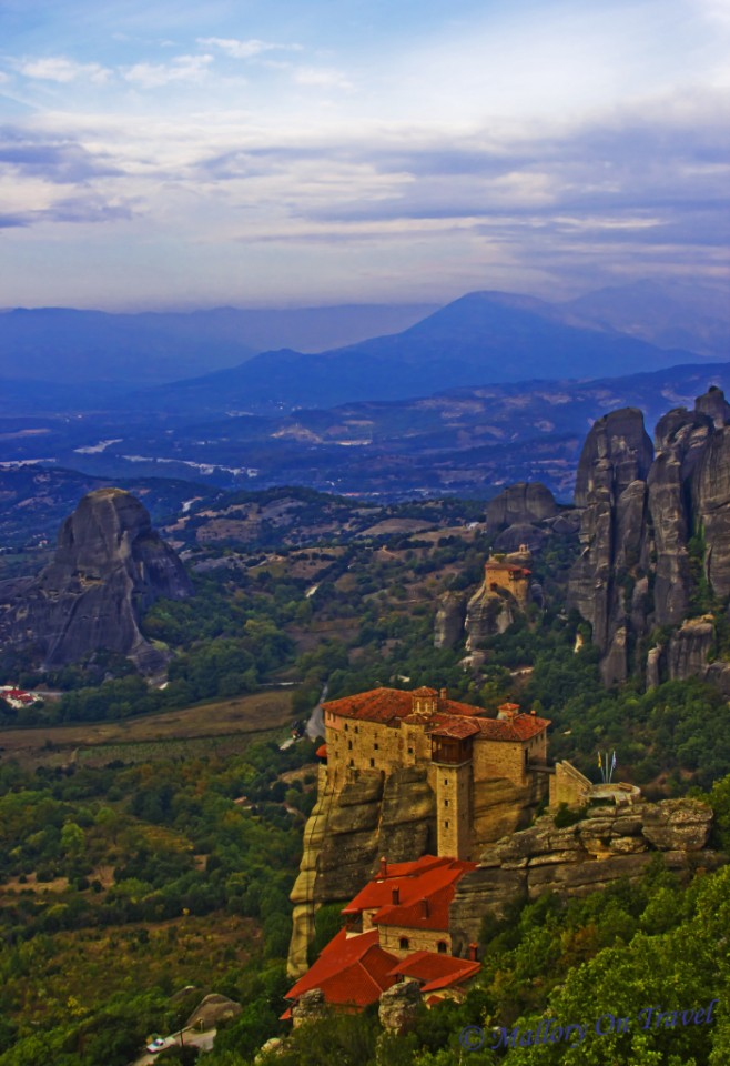 Monasteries of Meteora high above the Thessaly plain in Greece on Mallory on Travel, adventure, adventure travel, photography