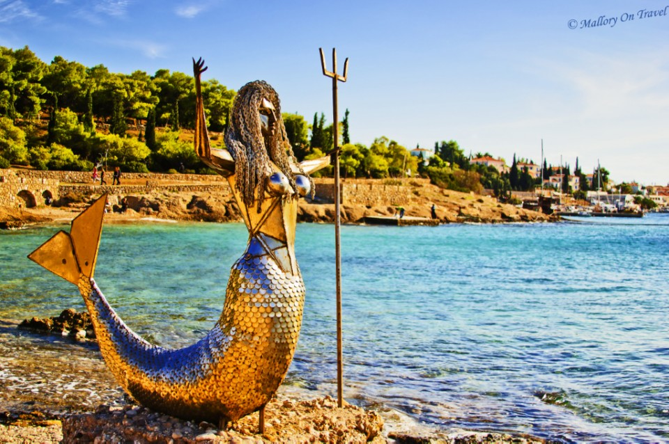 More Greek art on the island of Spetses in the Aegean Saronic Gulf off Athens on Mallory on Travel, adventure, adventure travel, photography