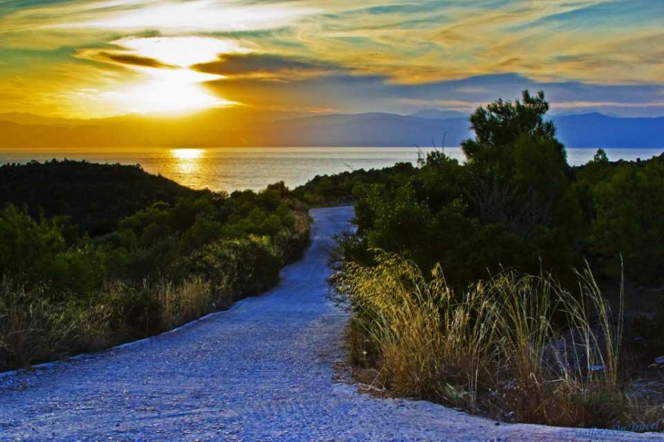 Another stunning sunset on the island of Spetses in the Saronic Gulf off the coast of Athens in Greece on Mallory on Travel, adventure, adventure travel, photography