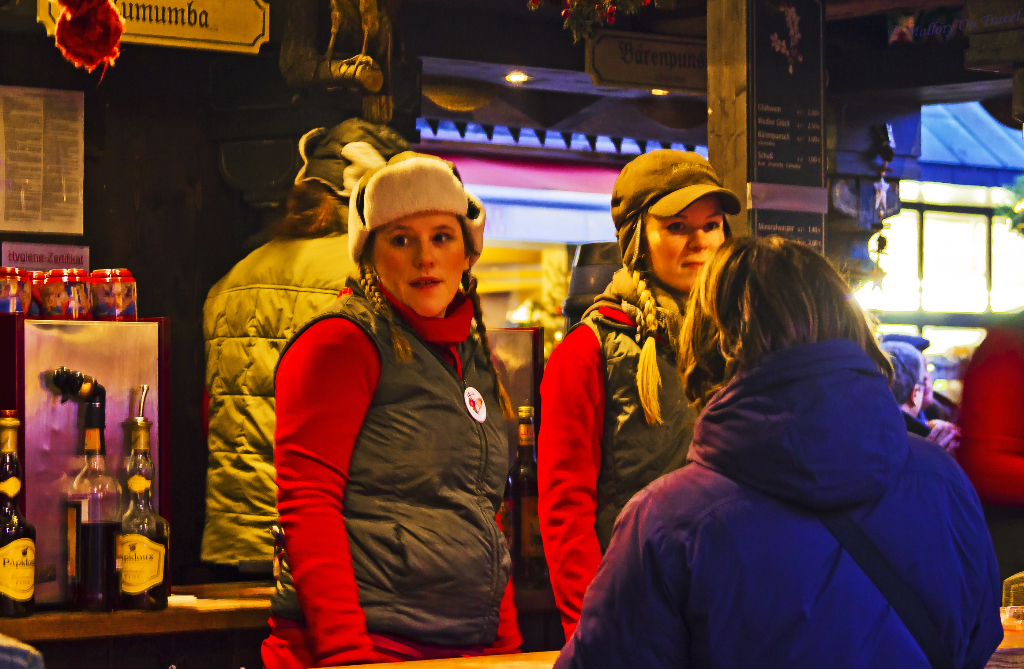 Drink stalls serving gluhwein at the Christmas market in Cologne, Germany  on Mallory on Travel, adventure, adventure travel, photography