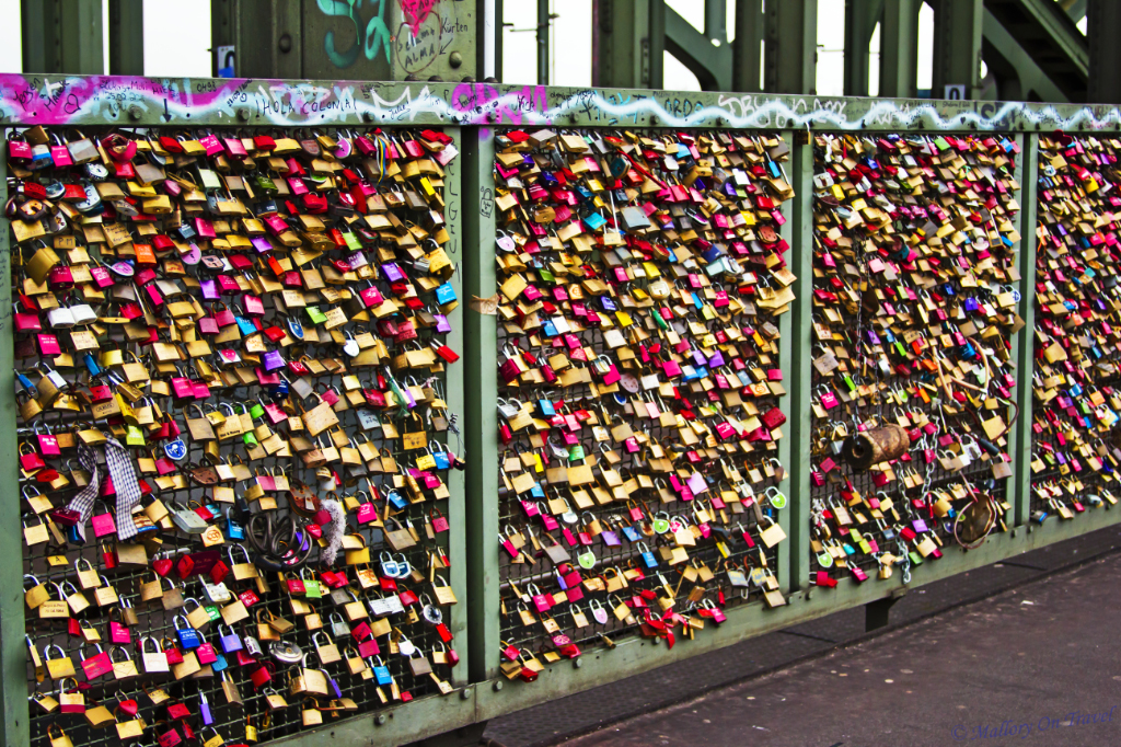 Cologne's Bridge of Love Locks over the Rhein  on Mallory on Travel, adventure, adventure travel, photography