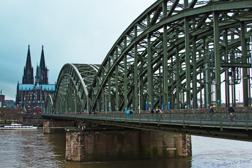 The DeutscheBahn Bridge of love locks in Cologne, Germany  on Mallory on Travel, adventure, adventure travel, photography