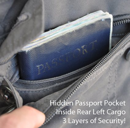 Hidden pocket in the P'cubed travel pants on Mallory on Travel, adventure, adventure travel, photography