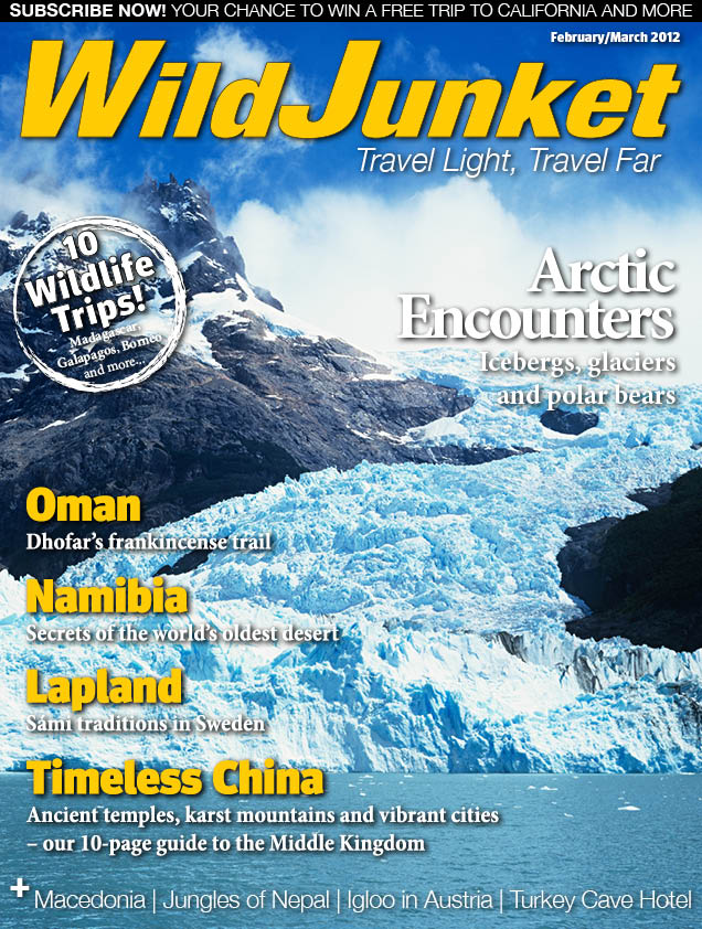 Travel blogging magazine; Front cover Wildjunket magazine on Mallory on Travel, adventure, adventure travel, photography