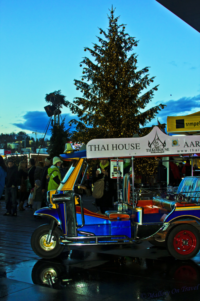 Adventure with transport; A tuk-tuk in Lucerne, Switzerland on Mallory on Travel, adventure, adventure travel, photography