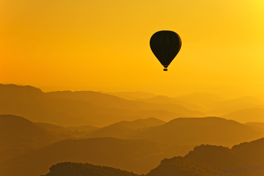 Hot air ballooning in Girona, Spain