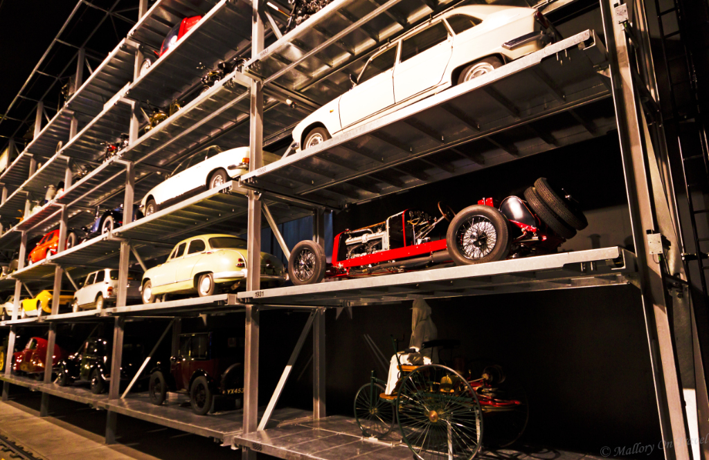 Floor to ceiling vehicles in the Swiss Motor Transport Museum in Lucerne  on Mallory on Travel, adventure, adventure travel, photography