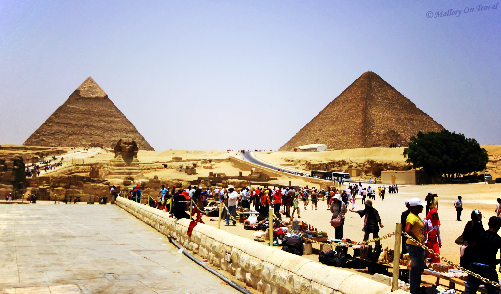 Iconic destination; The pyramids and great shinx at Giza, Egypt on Mallory on Travel, adventure, adventure travel, photography