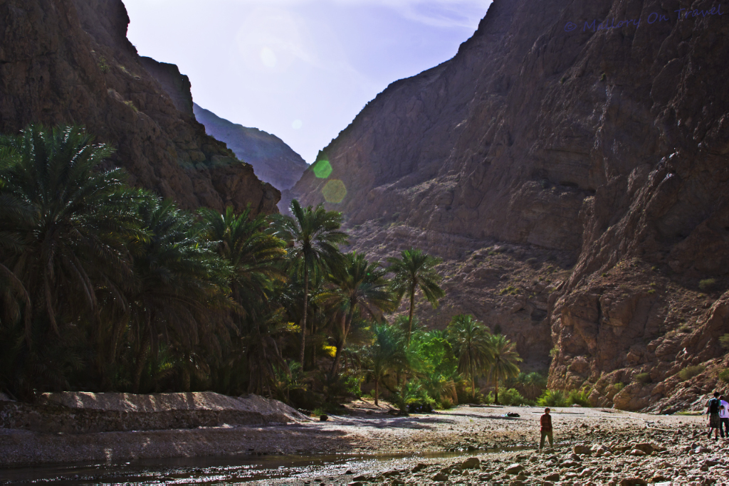 Wadi Shab in Oman on Mallory On Travel adventure, photography