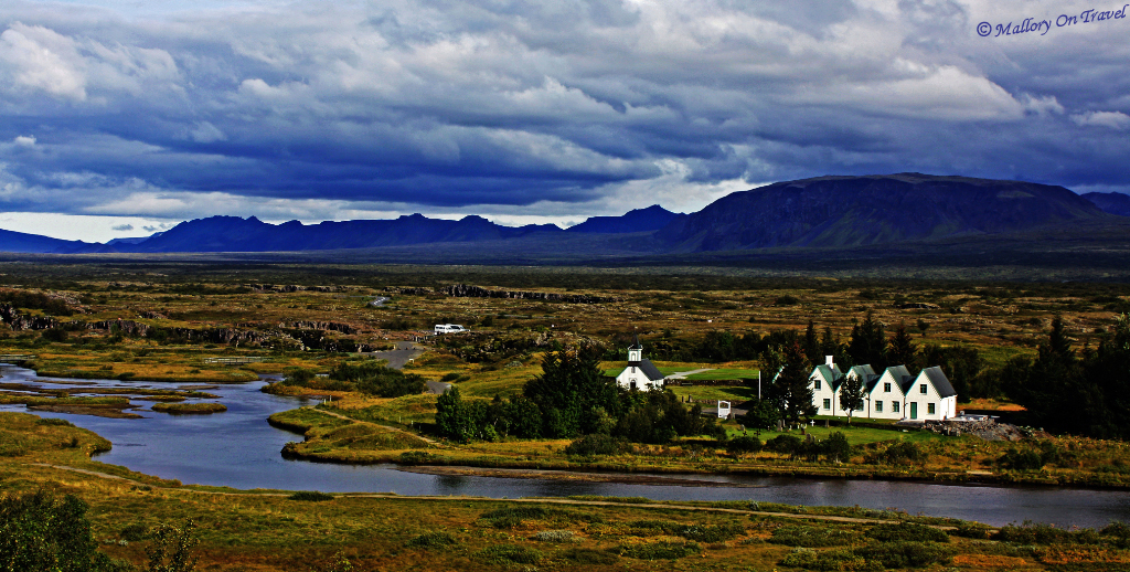 The Þingvellir National Park site of the Mid-Atlantic ridge in Iceland within the Arctic Circle on Mallory on Travel, adventure, adventure travel, photography