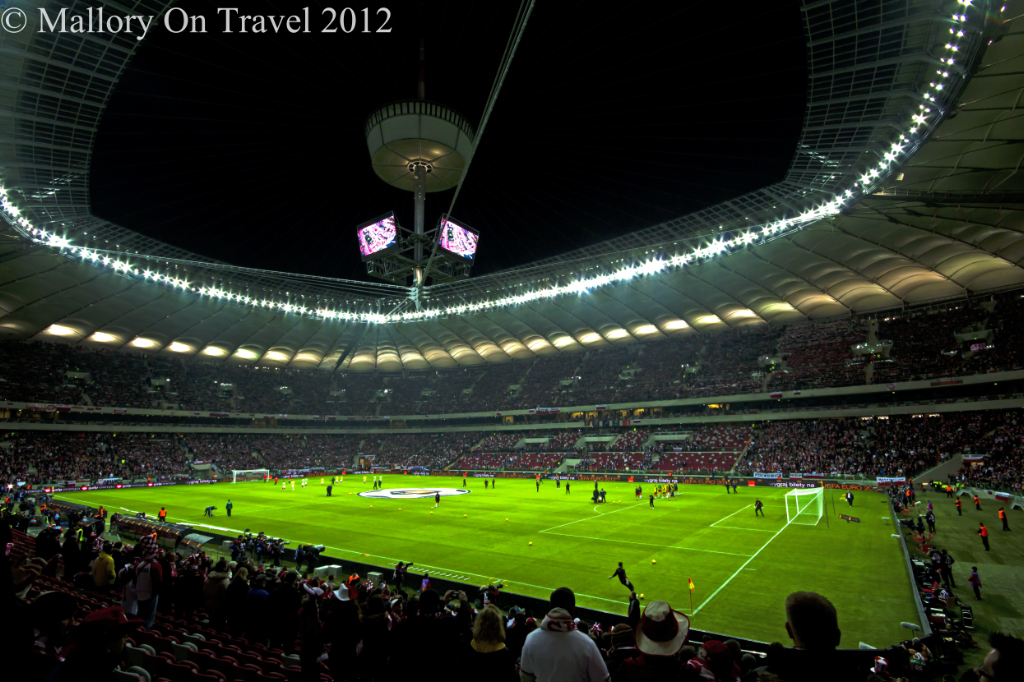 Hosting the opening ceremony of Euro 2012 The National Football Stadium, Warsaw on Mallory on Travel, adventure, adventure travel, photography
