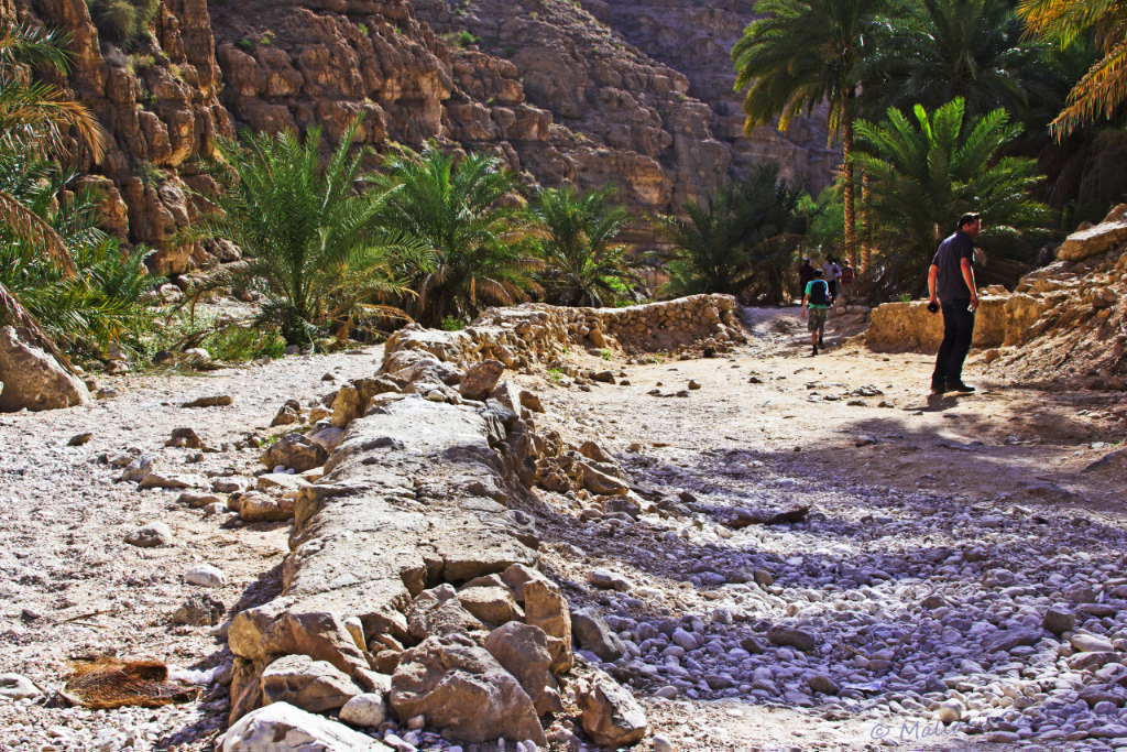 Wadi Shab near Sur in Oman on Mallory on Travel adventure, photography