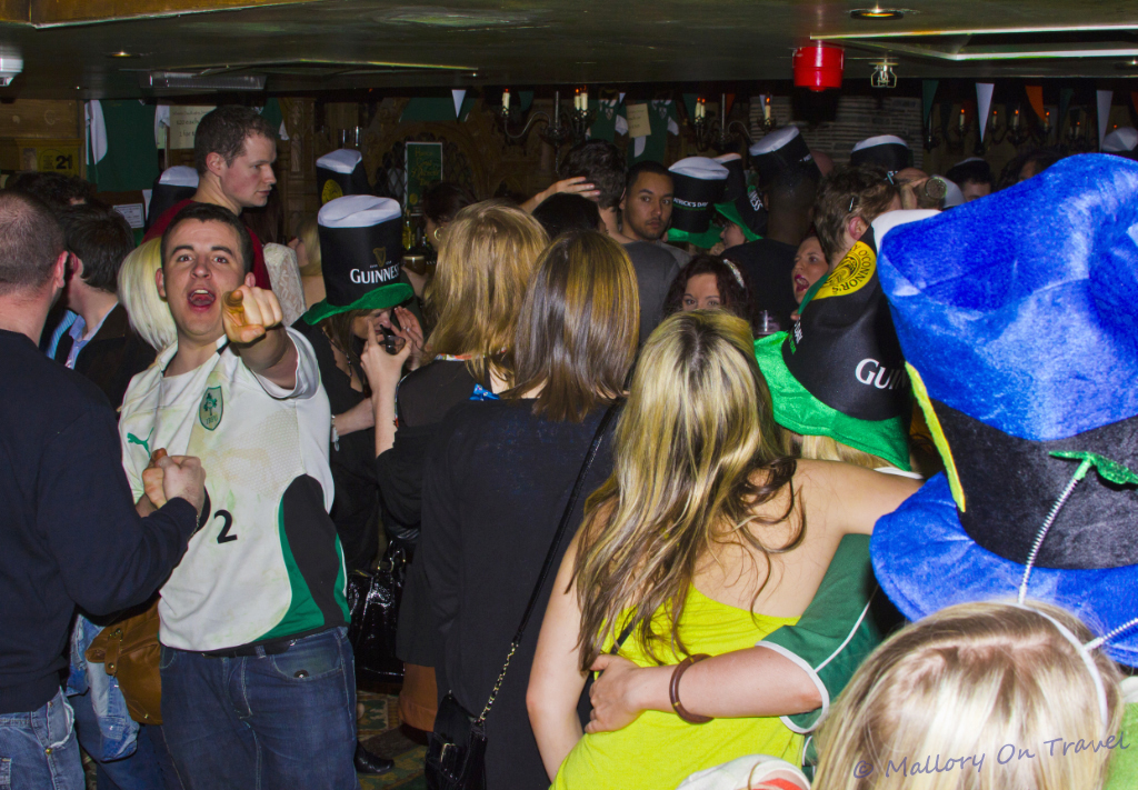 The party people celebrating at a Manchester St Patrick's Day n Mallory on Travel adventure, photography