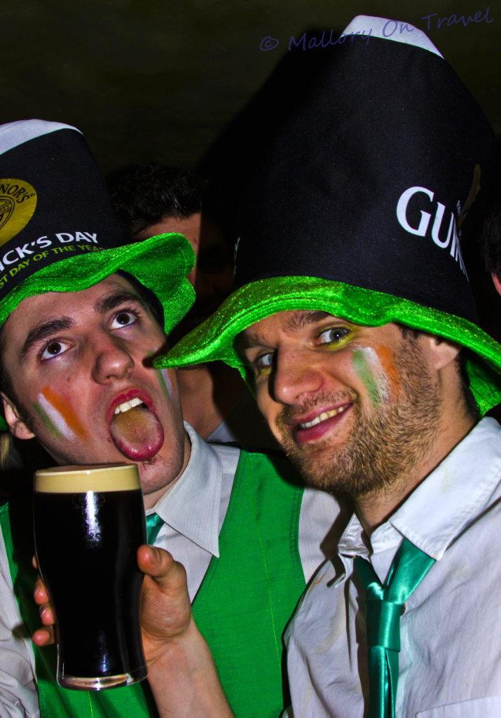 St Patrick's Day celebrations in a Manchester pub on Mallory on Travel adventure, photography