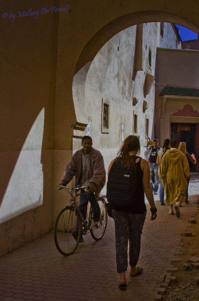 The backstreets of Marrakech and its medina on Mallory on Travel adventure, photography