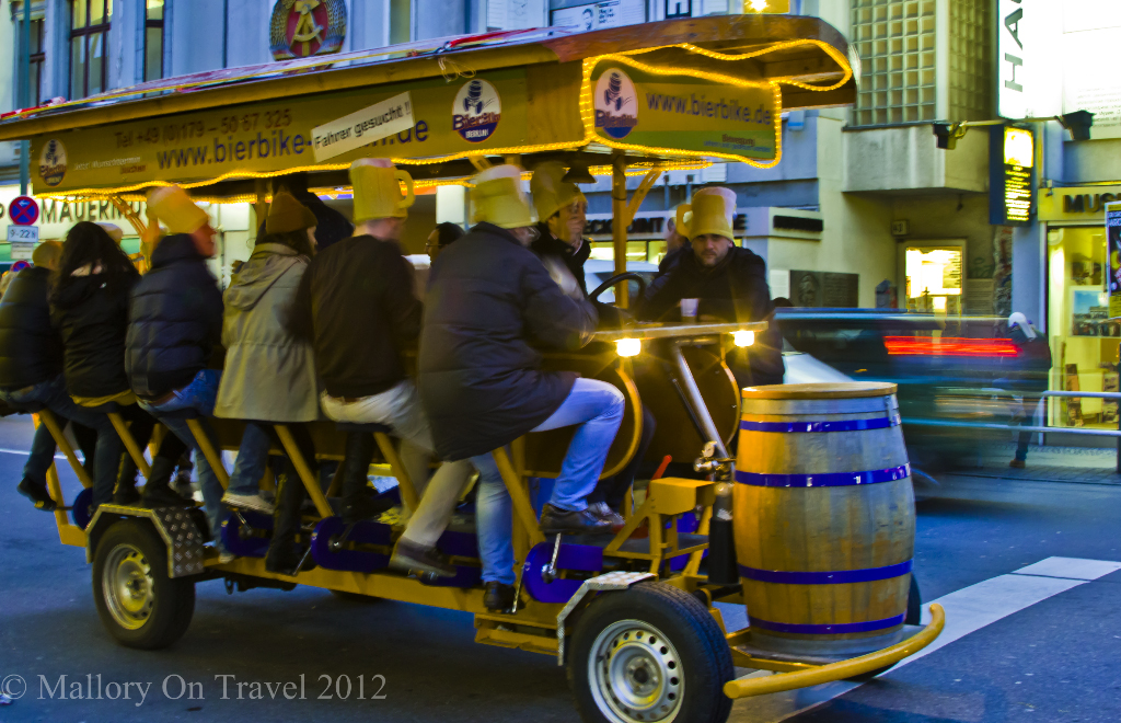A Berlin beer bike, Germany's sustainable alternative on Mallory on Travel adventure, photography