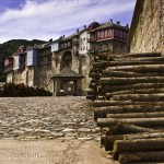 Postcard from monastic Mount Athos, Greece