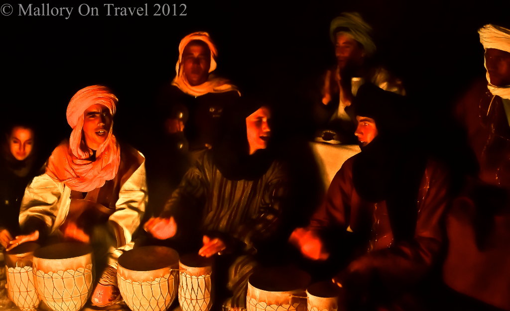 Morocccan Berbers in a Saharan bivouac on Mallory on Travel adventure, photography