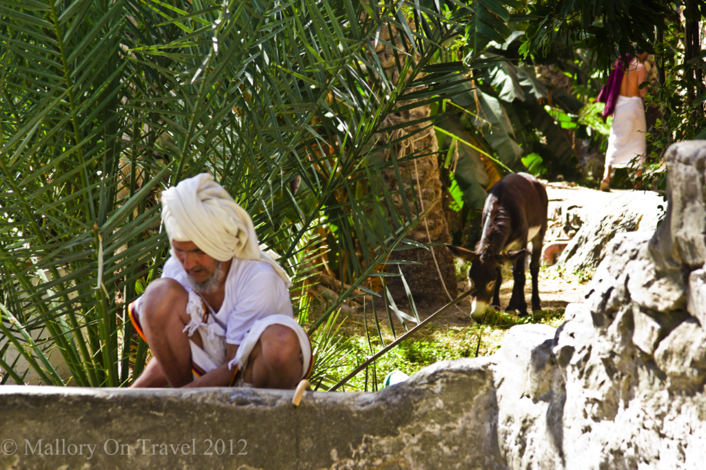 Sustainable travel; The Omani falaj village of Misfat al Abreyeen near Nizwa on Mallory on Travel adventure, photography
