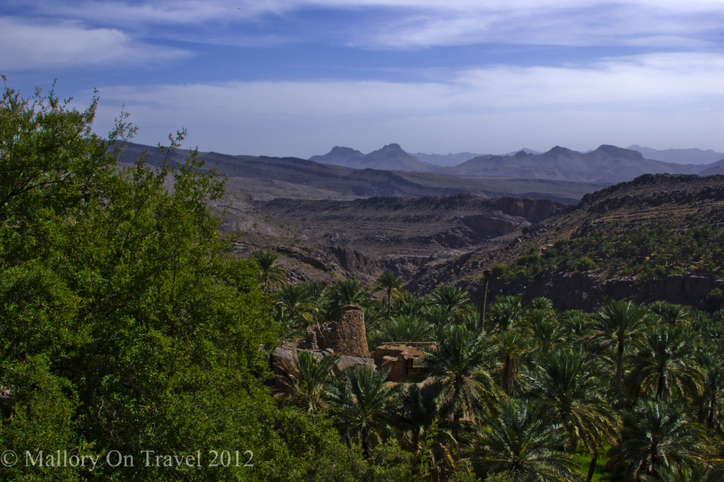 Sustainable travel; The Omani village of Misfat al Abreyeen on Mallory on Travel adventure, photography