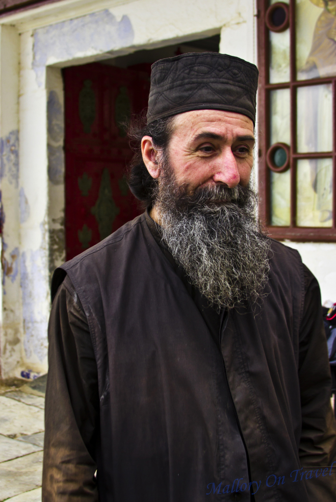 Father Ignacio a holy Byzantine monk from the Greek Orthodox enclave on Mount Athos on Mallory on Travel adventure photography