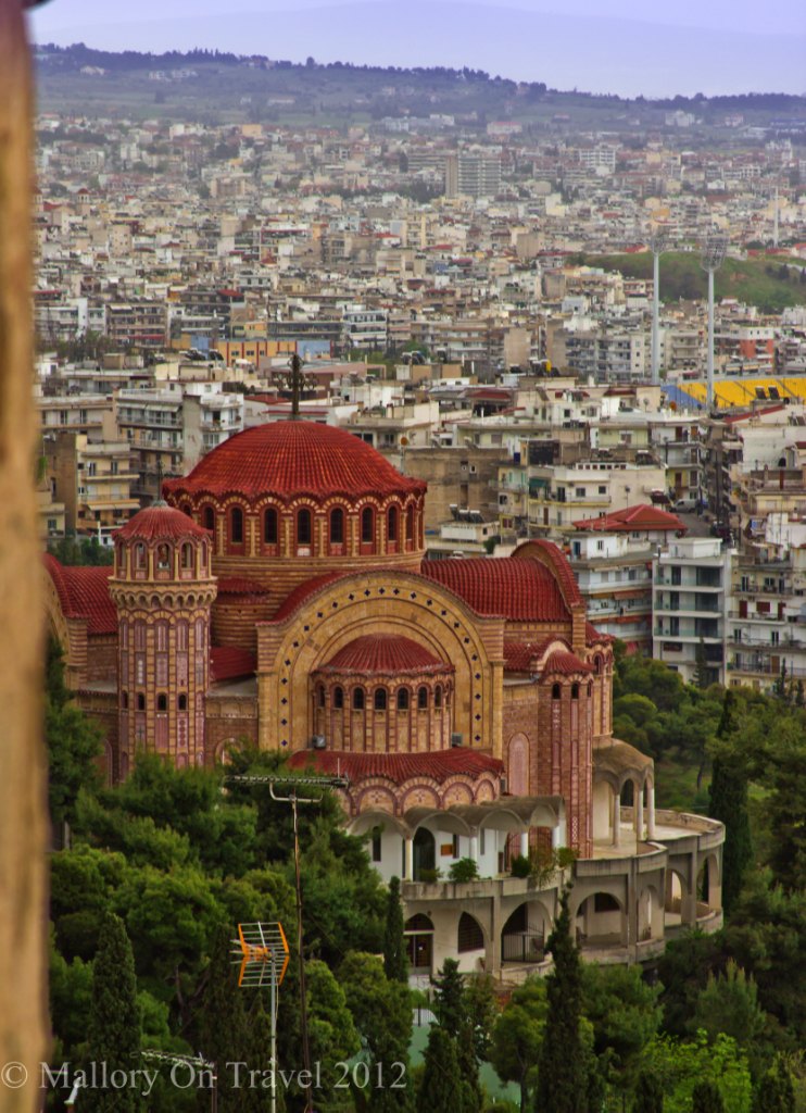 The Church of Saint Gregory Palamas and the city of Thessaloniki, Greece on Mallory on Travel adventure photography