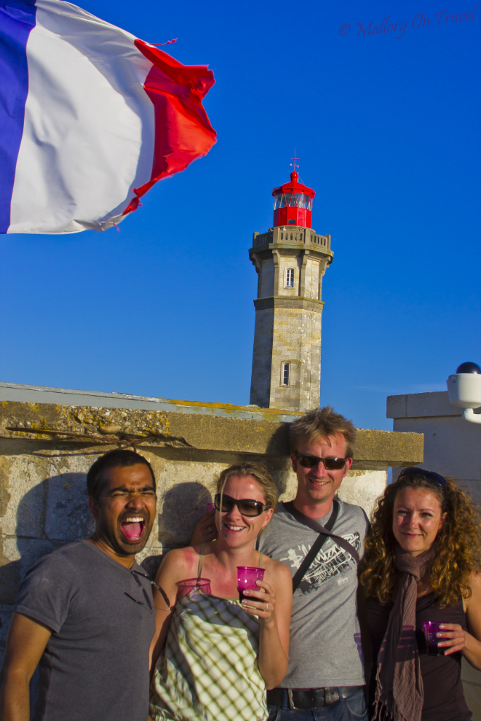 Bloggers at the Phare des Baleines, Île-de-Ré Poitou-Charentes, France on Mallory on Travel adventure photography