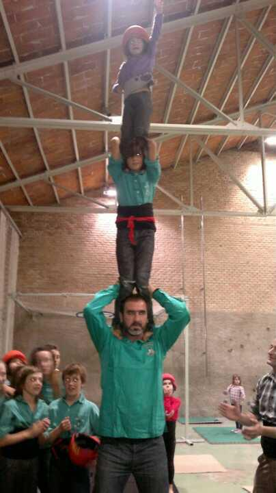 Castellers Vilfranca huiman castle building in Catalonia, Spain on Mallory on Travel adventure photography